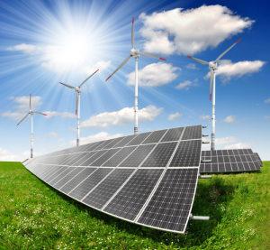 Wind-Sonnenstrom-Elektromobilität